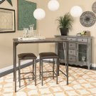 Catalina 3 Piece Breakfast Set In A Brown Powder Coat Finish Product Image