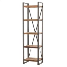Fortuna KD Tall Bookcase 5 Shelves, Cider