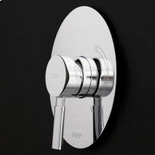 Built-in single-lever pressure balancing mixer with oval backplate.