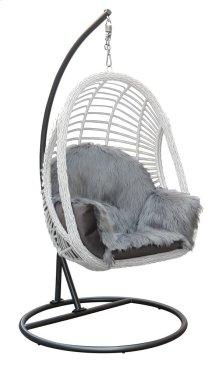 Emerald Home Ibiza Hanging Chair Ivory and Black U3500-2-09-03-k