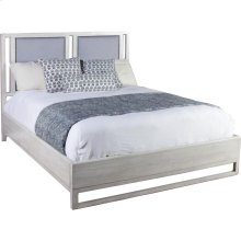 Leeward King Upholstered Panel Bed Peninsula Finish