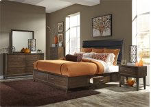 Queen Uph 2 Sided Storage Bed, Dresser & Mirror, Chest, NS