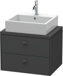 Brioso Vanity Unit For Console Compact, Graphite Matt (decor)