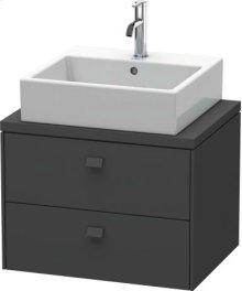 Brioso Vanity Unit For Console Compact, Graphite Matt (decor)