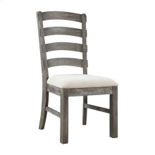 Emerald Home Paladin Side Chair Ladder Back Upholstered Seat Rustic Charcoal D350-20-03