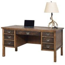 Half pedestal desk