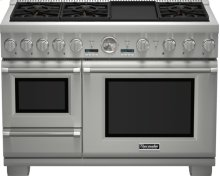 48 inch Professional Series Pro Grand Commercial Depth Dual Fuel Steam Range PRD48JDSGU