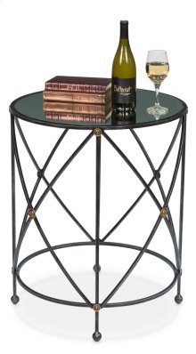 Drum & Fife Lamp Table W/Mirror Glass Tp