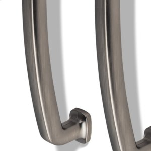 """19-1/4"""" Overall Length Forged Look Flat Bottom Appliance Pull. Holes are 18"""" center-to-center."""