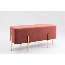 Modrest Ranger Modern Copper Fabric Bench