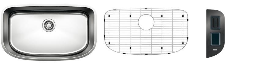 Blanco One Super Single Bowl Kit 2 - Safety - Satin Polished Finish