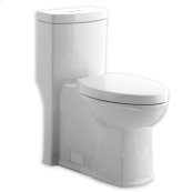 White Boulevard Siphonic Dual Flush RH Elongated One-Piece Toilet with Seat