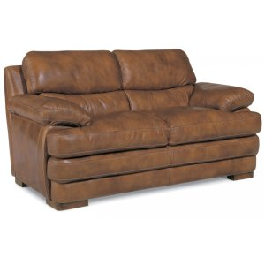 FLEXSTEELHOMEDylan Leather Loveseat without Nailhead Trim
