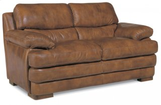 Dylan Leather Loveseat without Nailhead Trim