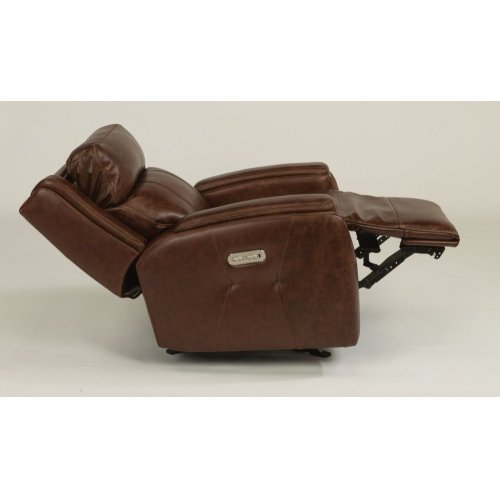 Zara Leather Power Gliding Recliner with Power Headrest