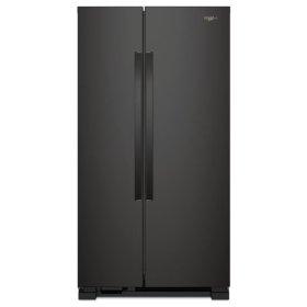 Whirlpool® 33-inch Wide Side-by-Side Refrigerator - 22 cu. ft. - Black