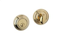Deadbolt 910-0 - Lifetime Brass