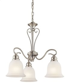 Tanglewood 3 Light Chandelier Brushed Nickel