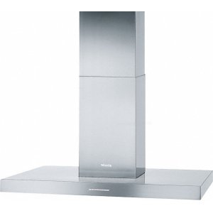 MielePUR 98 D Island d(eback)cor hood with energy-efficient LED lighting and backlit controls for easy use.
