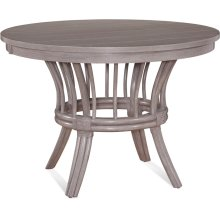 """Meridien Round 42"""" Dining Table with Wood Top and Apron"""