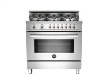 Stainless 36 6-Burner, Electric Self-Clean Oven