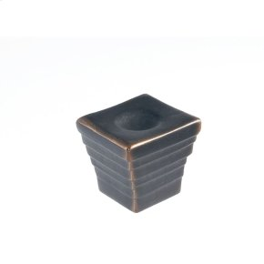 Oil Rubbed Bronze Forged 2 Large Cube Knob 1 3/8 Inch