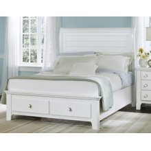Cottage Sleigh Storage Bed