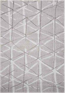 Ingenue Kih33 Silver Rectangle Rug 5'3'' X 7'3''