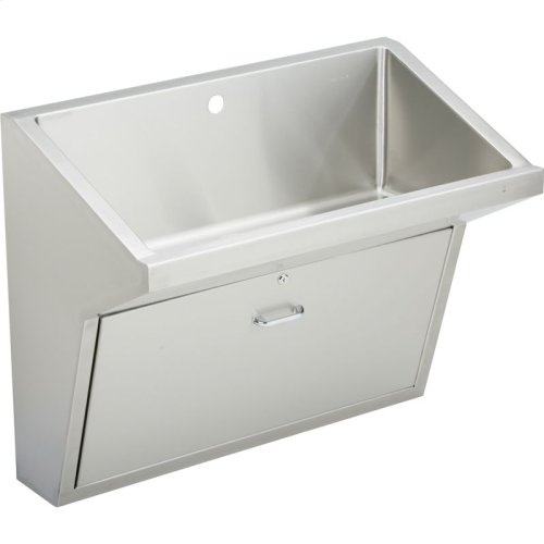 "Elkay Stainless Steel 33"" x 16-13/16"" x 30"", Wall Hung Single Station Surgeon Scrub Sink"