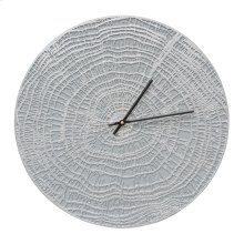 "End Grain 16"" Indoor Outdoor Wall Clock - Grey/Silver"