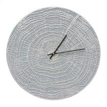 """End Grain 16"""" Indoor Outdoor Wall Clock - Grey/Silver"""