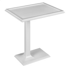 Freestanding side table in Cristalplant® Matte white
