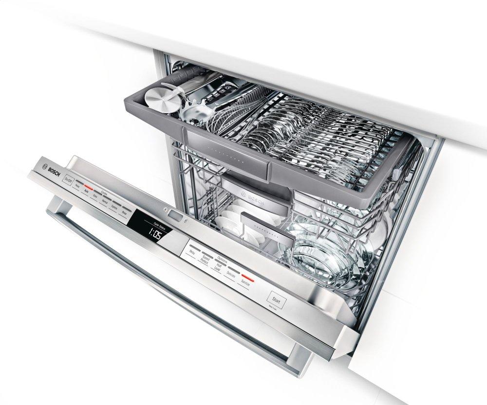 Shx7pt55uc Bosch 24 Bar Handle Dishwasher 800 Plus Series
