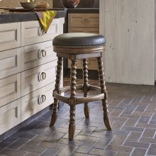 Dawson Swivel Barstool (Armless/Backless