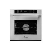 """Heritage 27"""" Single Wall Oven, Silver Stainless Steel with Epicure Style Handle"""