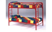 Edison Red Twin over Twin Metal Bunk Bed