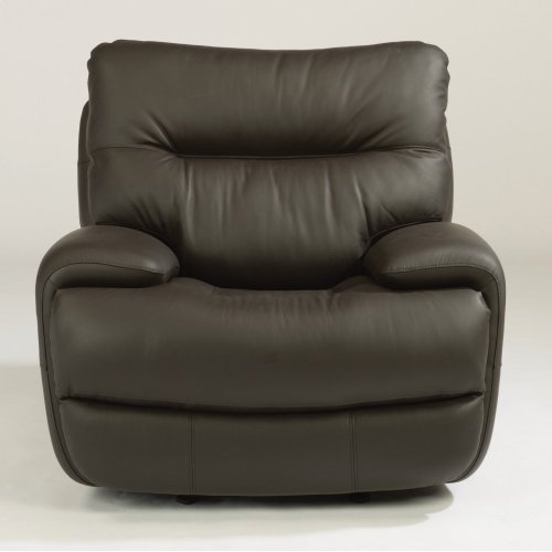 Evian Leather Power Gliding Recliner with Power Headrest