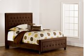 Kaylie King Bed Set - Chocolate