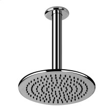 """Wall-mounted shower head 1/2"""" connections Projection from ceiling 10-1/8"""" Max flow rate 2"""