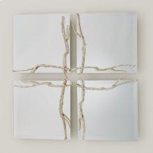 Twig Mirror-Silver Leaf-Sm