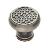 Satin Brass and Black Couture Knob