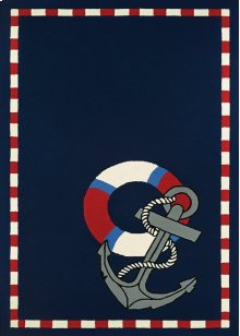 4290/8160 Anchors Away / Navy Area Rugs