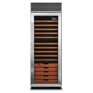 "Viking30"" Full-Height Wine Cellar, Right Hinge/Left Handle"