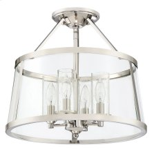 Barlow Semi-Flush Mount in Polished Nickel