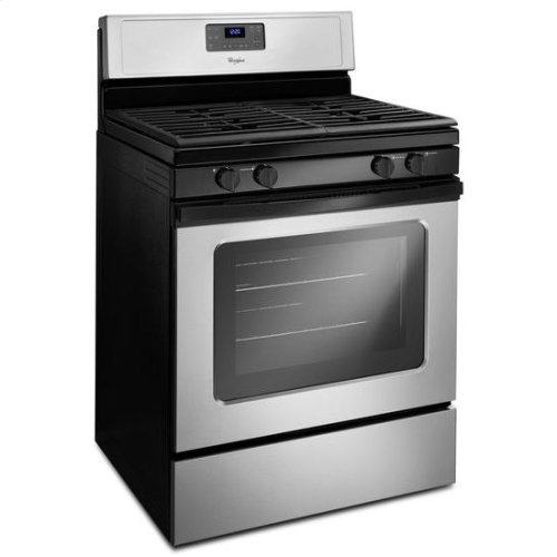 Whirlpool® 5.0 Cu. Ft. Freestanding Gas Range with AccuBake® Temperature Management System - Universal Silver