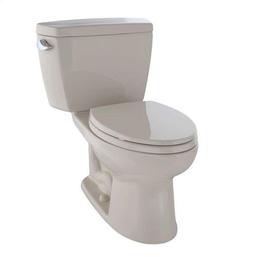 Eco Drake® Two-Piece Toilet, 1.28 GPF, ADA Compliant, Elongated Bowl - Bone