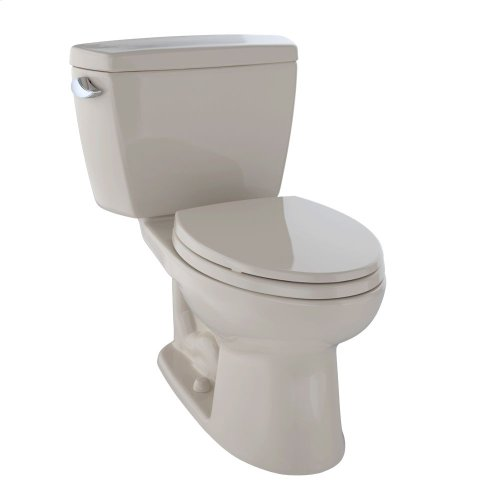 Eco Drake® Two-Piece Toilet, 1.28 GPF, Elongated Bowl - Bone