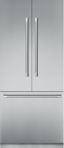 36-Inch Built-in Stainless Steel Professional French Door Bottom Freezer