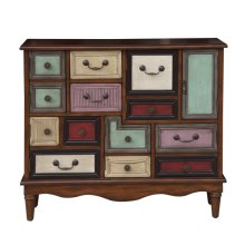 Eclectic Drawer & Door Strg Chest