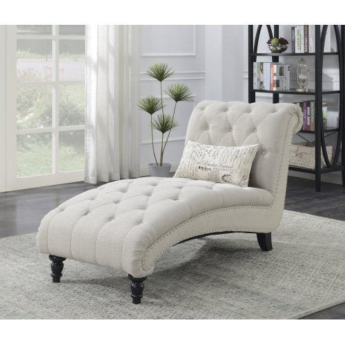 Emerald Home Hutton II Chaise Nailhead With 1 Pillow Natural U3164-07-29